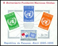 Panama, 1958, United Nations 10th Anniversary, MNH, Michel Block 4 - Panama