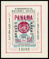 Panama, 1961, World Refugee Year, WRY, United Nations, MNH Overprinted, Michel Block 10 - Panama