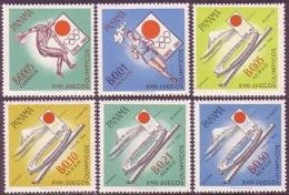 Panama, 1964, Olympic Summer Games Tokyo, Sports, MNH, Michel 714-719 - Panama