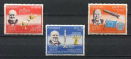 Panama, 1966, Winston Churchill, Space, MNH, Michel 933-935A - Panama