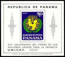 Panama, 1972, UNICEF 25th Anniversary, United Nations, MNH, Michel Block 108 - Panama