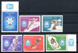 Panama, 1968, Olympic Winter Games Grenoble, MNH, Michel 1046-1051 - Panama