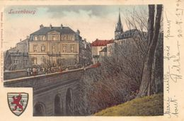 Luxembourg-Ville - Pont Et Armoiries - Ed. Fischer-Ferron. - Luxemburg - Town