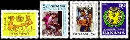 Panama, 1972, UNICEF 25th Anniversary, United Nations, MNH, Michel 1216-1219A - Panama
