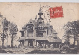 CPA SUIPPES 51 VILLA LES LAINES VILLA NORMANDE FACADE SUD 1907 - France
