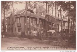 """M20- 44) SAINT BREVIN LES PINS - AVENUE ST GEORGES - PENSION DE FAMILLE """""""" LES JASMINS """"""""  - (2 SCANS) - Saint-Brevin-les-Pins"""