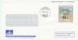 Denmark Cover Haderup 14-10-1985 With Niels Bohr Stamp Perfect Sun Cancel - Denmark