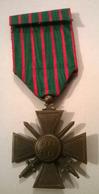 Médaille Croix De Guerre 14-18 Une étoile /a - France