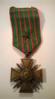 Médaille Croix De Guerre 14-18 Une étoile /b - France