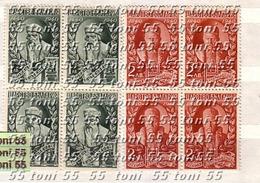 1940 Printing Press - GUTENBERG   2v.- MNH ** Block Of Four  Bulgarie / Bulgaria - Nuevos