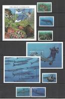 X910 GRENADA FAUNA GREAT UNDERWATER FISH & MARINE LIFE !!! 1KB+2BL+1SET MNH - Marine Life