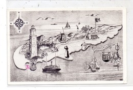 LANDKARTEN / MAPS - TERSCHELLING, Mermaid / Meerjungfrau - Mapas