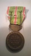 Médaille Militaire Soldat De La Marne 1914 1918 Avec Boite Et Broche - France