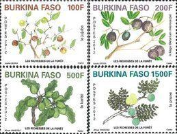 BURKINA FASO Richesses Des Forêts 4v 2012 Neuf ** MNH - Burkina Faso (1984-...)