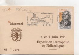 Timbres.Expositon Philatélique Et Cartophile.Morestel.1983.n°0076 - Briefmarkenausstellungen