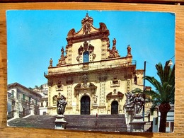 (FG.Y32) MODICA - CHIESA DI SAN PIETRO (RAGUSA) Viaggiata 1970 - Modica