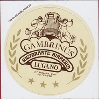 Sticker Autocollant Beer Beer Bierre Gambrinus Ristorante Birreria Lugano Italia Birra Aufkleber Adesivo - Autocollants