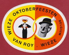 Sticker Autocollant Beer Beer Bierre Oktoberfeesten Wieze Van Roy Belgium Reclame Aufkleber Adesivo - Autocollants