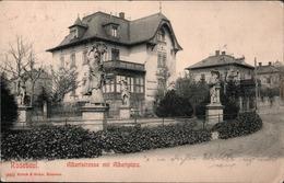 !  Alte Ansichtskarte Radebeul, Albertstrasse, Albertplatz, Villen, Sachsen - Radebeul
