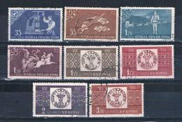 Romania 1252-59 Used Set Romanian Stamps 1958 CV 2.60 (HV0197) - Romania