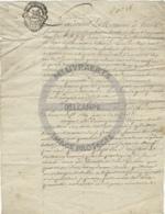 /!\ 1335 - Parchemin - 1754 - Commune De Paris - Manoscritti