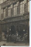 Carte Photo:Douai-Tailleur Habillement Bugnot. - Douai