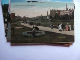 Engeland England Dorset Bournemouth Old Postcard Lower Gardens - Bournemouth (vanaf 1972)