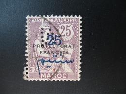 Perforé Perfin Maroc , Perforation : M 16   à Voir - Marokko (1891-1956)