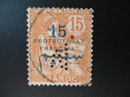 Perforé Perfin Maroc , Perforation : M 16   à Voir - Autres