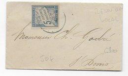 REUNION - 1900 - ENVELOPPE LOCALE De ST DENIS Avec AFFR. EXCEPTIONNEL TAXE DUVAL COLONIE GENERALE PAR MANQUE DE TIMBRE - Réunion (1852-1975)