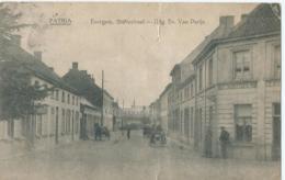 Evergem - Statiestraat - Estaminet Het Schuttershof - Uitg. Ev. Van Parijs - Patria - 1924 - Evergem