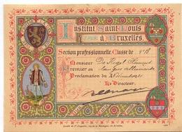 Erekaart Carte D'honneur - Institut Saint Louis à Bruxelles - Clement De Kegel - 1921 - Diplômes & Bulletins Scolaires