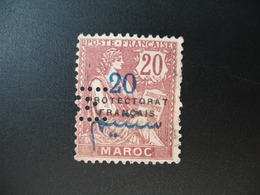 Perforé Perfin Maroc , Perforation : M 16   à Voir - Maroc (1891-1956)