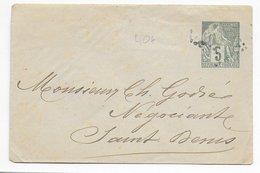 REUNION - ALPHEE DUBOIS - ENVELOPPE ENTIER LOCALE De ST DENIS Avec OBLITERATION LOSANGE DE POINTS - Réunion (1852-1975)