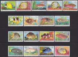 COCOS (KEELING) ISLANDS 1979/80 «Tropical Fish» Complete Set 17 Vals. MNH Mi# 34-47 + 50-52 - Kokosinseln (Keeling Islands)