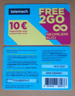 SLOVENIA TELEMACH Used Mobil Phonecard 10 Euro Free 2 Go   Expired Date 14.1.2021 - Slovenië