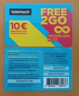 SLOVENIA TELEMACH Used Mobil Phonecard 10 Euro Free 2 Go   Expired Date 6.6.2020 - Slovenië