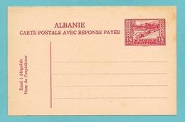ALBANIA ALBANIE CARTE POSTALE AVEC RESPONSE PAYEE POSTA SHQYPTARE - Albanie