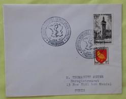 FRANCE Medecine, Oblitération Temporaire JOURNEES MEDICALES à STRASBOURG 1955 - Medizin