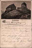!  Alte Ansichtskarte Vorläufer, Precurseur, Gruss Aus Dem Riesengebirge, Schneekoppe, 1892 Krummhübel, Verlag E.Gruhn - Schlesien