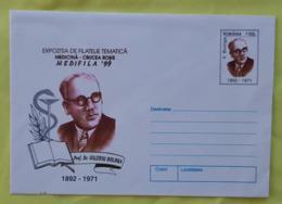 ROUMANIE Medecine, Croix Rouge Entier Postal Neuf émis En 1999. VALERIU BOLOGA Exposition Philatelique Thematique - Croce Rossa