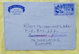 NIGERIA Medecine AEROGRAMME Ayant Circulé Vers Les PAYS BAS. Programme De Vacination. 1980 - Medizin