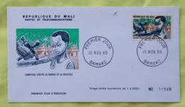 MALI Medecine, Campagne Contre La Variole Et La Rougeole. Yvert N° 131, FDC, Enveloppe 1 Er Jour 1969 - Medizin