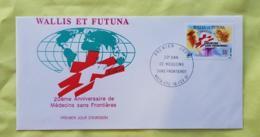 WALLIS ET FUTUNA Medecine, 20 Ans De Medecins Sans Frontieres. Yvert N° 407, FDC, Enveloppe 1 Er Jour 1991 - Medizin