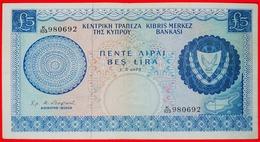 √ GREAT BRITAIN (1966-1976): CYPRUS ★ 5 POUNDS 1.5.1973 CRISP! LOW START ★ NO RESERVE! - Zypern