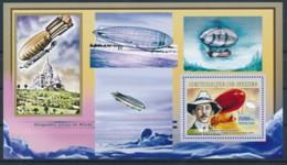 NB - [401802]TB//**/Mnh-Guinée 2009 - Dirigeables Autour Du Monde, Alberto Santos Dumont - Zeppelins