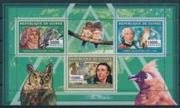 NB - [401881]TB//**/Mnh-Guinée 2006 - Hiboux Et Chouettes, François Levaillant, Comte De Buffon, John James Audubon - Uilen