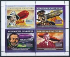 NB - [401927]TB//**/Mnh-Guinée 2006 - Les Dirigeables, Alberto Santos Dumont, Ferdinand Von Zeppelin, Henri Giffard, Dr - Zeppelins
