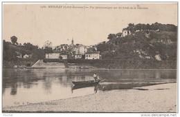 R18- 47) MEILHAN (LOT ET GARONNE) VUE PANORAMIQUE SUR LES  BORDS DE LA GARONNE  - (ANIMÉE - BARQUE - 2 SCANS) - Meilhan Sur Garonne
