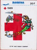 Sticker Autocollant Peter Pan Movie Film Walt Disney Sabena Belgian World Airlines Red Cross Charity Aufkleber Adesivo - Autocollants